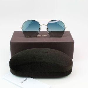Tom Ford Antonia Sunglasses Blue Gradient Lens